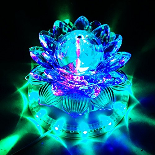 MAKE IN INDIA SFL DIWALI DECORATIVE ROTATING LOTUS SUNFLOWER DISCO LED LIGHT WITH MOVING LOTUS FLOWER FOR FESTIVAL PARTY