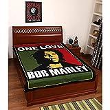Bob Marley Single Bed Cotton Bedsheet(22...