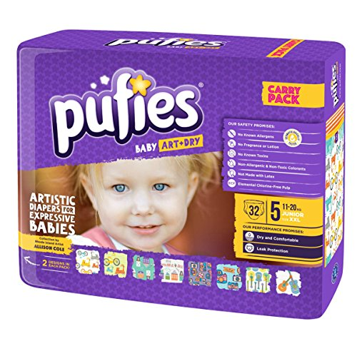 Pufies Baby Art Dry Village - 32 Pañales, talla 5, 11-20 kg