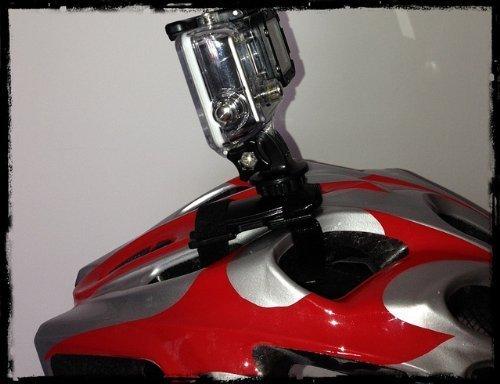 Fahrradhelm Kletthalter für Gopro Hero 4 3+ Kletthalterung Klettverschluss Bike Helm Halter cube Hero 1- 4