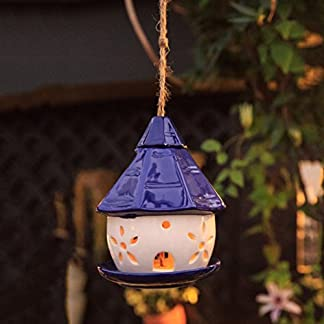 cacoffay hanging bird feeder outdoor solar light hollow ceramic blue cottage garden christmas decoration Cacoffay Hanging Bird Feeder Outdoor Solar Light Hollow Ceramic Blue Cottage Garden Christmas Decoration 516xX0J3nNL