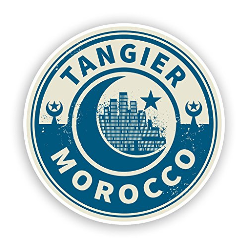 2x Marokko Tanger Vinyl Aufkleber Reise Gepäck # 7446 - 10cm/100mm Wide