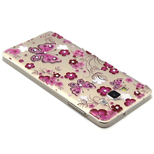 Skitic Coque Bling Strass Cristal 3D Relief Printing Diamond Housse Cover for iPhone 6 / iPhone 6S, Ultra Mince Light Housse de Protection Case Coque Etui Cover Flexible Soft TPU Silicone Clair Transp Style 1