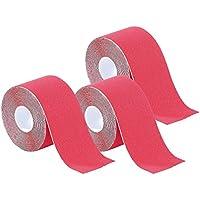 newgen medicals Reha-Power-Tapes: Kinesiologie-Tape aus Baumwollgewebe, 3er-Set, rot (Physiotape) preisvergleich bei billige-tabletten.eu