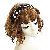Demarkt Damen Polka Dot Design Haarband Haarschmuck mit Schleife Haarreif (Schwarz)