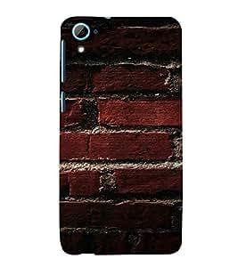 PrintVisa Brick Wall Design 3D Hard Polycarbonate Designer Back Case Cover for HTC Desire 826