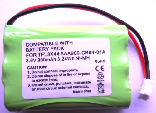 Batterie de remplacement pour Motorola Système de surveillance de bébé MBP33/MBP36, 900 mAh, 3,6 V