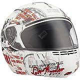 Studds Full Face Helmet Ninja 3G D5 (Matt White N2, XL)