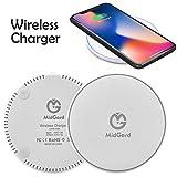 MidGard 9V Fast Wireless Charging Ladestation für Qi fähigen Smartphones, Wie Apple iPhone X, 8 / Samsung Galaxy S9, S9 Plus, Note 8, S8, S8 Plus, S7 / LG G7, G6, G5 usw.