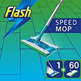 Flash Speedmop Giga Pack with 60 Wet Mopping Cloths Refills, Fast Easy and Hygienic Floor Mop, for Any Type of Floor