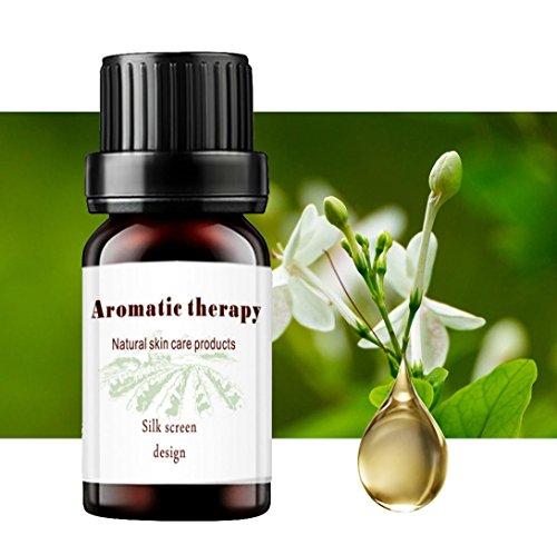 Solike 10ml 100% reine & natürliche ätherische Öl Aromatherapie Duft Hautpflege (Jasmin) (Parfüm Aromatherapie Jasmin)