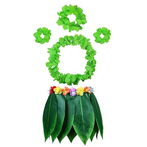Hawaiian Kostüm Für Erwachsene - HANGNUO 5 stücke Hula Rock Hawaiian