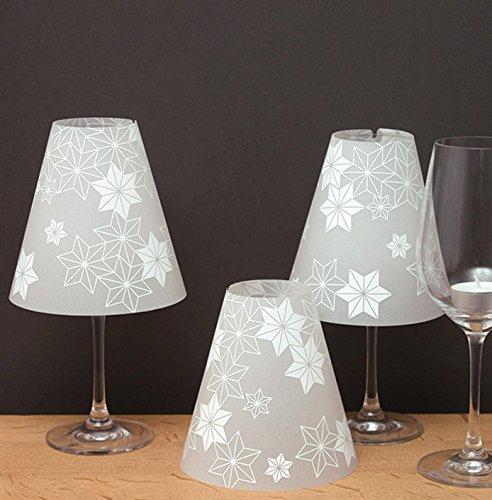 DIE STERNENHELENE 3 paralumi per bicchieri vino, in carta trasparenteUn cielo stellato per il (Tre Paralume)