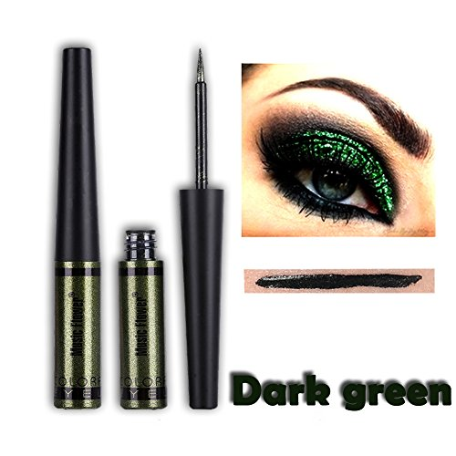 Glitzer Liquid Eyeliner Metallic Pigment Wasserdichte Lidschatten Dunkelgrün