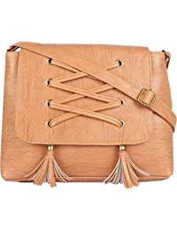 TYPIFY® Leatherette PU Tassel Cross Sling bag for Women and Girls College Office Bag, Stylish latest Designer Spacious Cross Body Bag Purse with Sling Belt. Gift for Her
