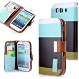 Dill®Hard Case in Wallet Design +Folie Set f. Samsung Galaxy S3 I9300 Cover Schutz Hülle