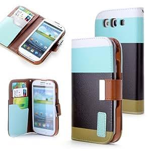 Dill®Hard Case in Wallet Design +Folie Set f. Samsung Galaxy S3 I9300 Cover Schutz Hülle