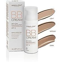 Simon & Tom BB Cream - 3 Nuancen für eine makellose Haut mit perfekter Tönung. Feuchtigkeitspflege in einer Tagescreme ✔ Wirkt Hautunreinheiten entgegen ✔ Nicht fettend ✔ Mit Sonnenschutzfaktor SPF15 ✔ Für alle Hauttypen ✔ Frei von Parabenen und Phtalaten ✔ 50ml