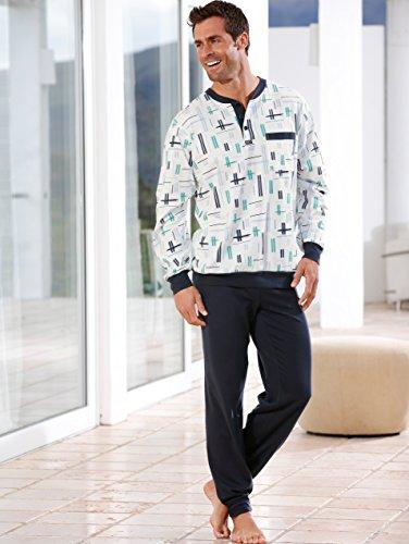 Herren Schlafanzug by KLiNGEL ecru/bleu/schilf
