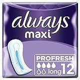 Always Maxi Profresh Long Binden Ohne Flügel, 8er Pack (8 x 12 Stück)