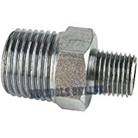 """1/4"""" BSP Male to 1/2"""" BSP Male Step Up / Down Thread Union Air Fitting FT055"""