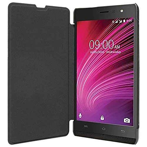 ECellStreet Flip Case Diary Folio Flap Case Cover For Lava Iris X9 - Black  available at amazon for Rs.195