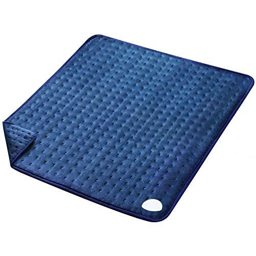 MaxKare Großes Elektrisch Heizkissen (50 x 60cm) Wärmekissen mit Abschaltautomatik und Temperatureinstellung in 6 Stufen Weiche Oberfläche für Rücken Nacken Schulter und Waschmaschinenfestes Gewebe