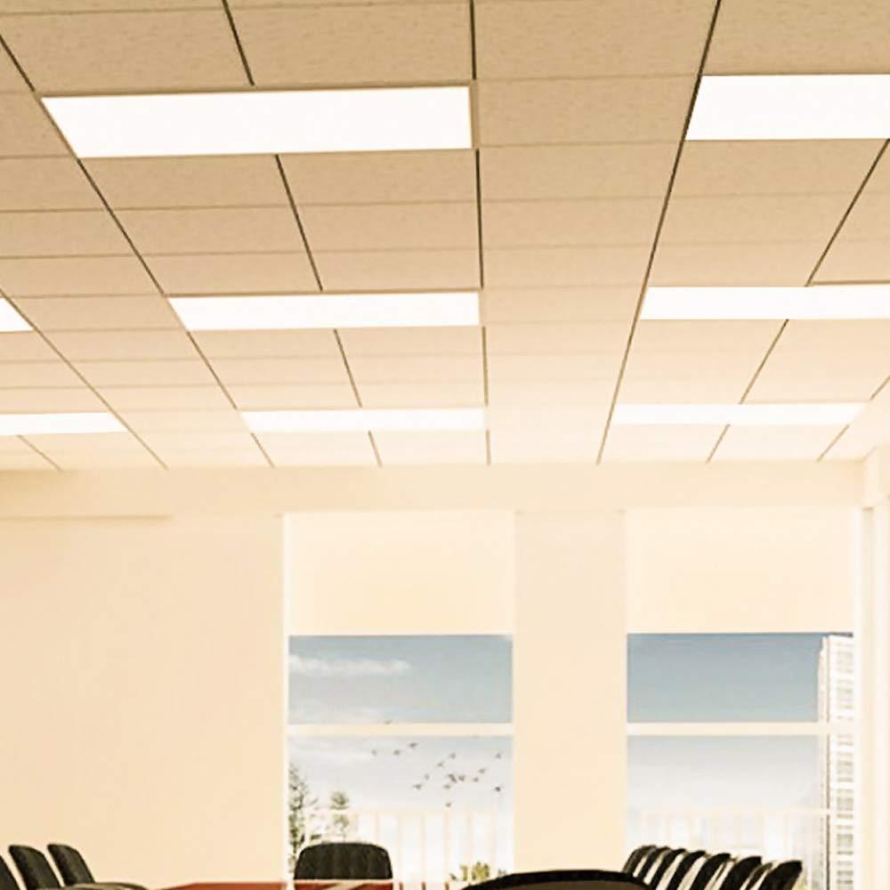 Neon Sospensione Per Ufficio.Lighting Ever Pannello Led Di Ricambio Plafoniera Da Ufficio Lampada A Sospensione Per Tubo Fluorescente Da 80 W Luce Bianca Calda 3000k 300 X