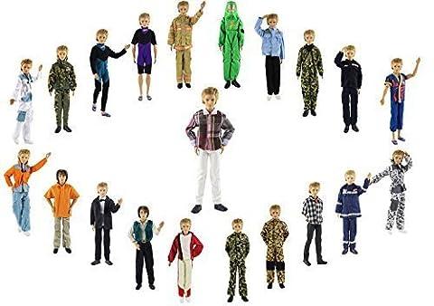 ZITA ELEMENT® 10 Set Mode Casual Vêtements Tenue +3 Paires Chaussures Pour Poupée Ken Barbie Doll Enfant Cadeau d