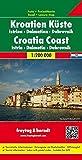 Kroatien Küste - Istrien - Dalmatien - Dubrovnik, Autokarte 1:200.000, freytag & berndt Auto + Freizeitkarten) - Freytag-Berndt und Artaria KG