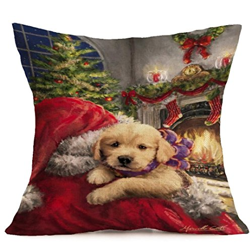 Zierkissenbezüge VENMO Weihnachten Kissenbezug 45 x 45cm (B)