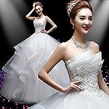 XC Hochzeitskleid Frühling und Sommer Braut Brautkleid Roten Gürtel Spitze War Dünn Peng Peng Rock Hochzeit Frauen,EIN,XXXL