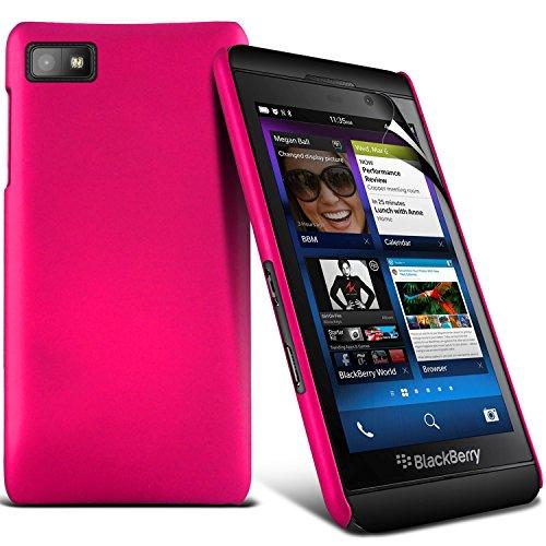 ( White ) Blackberry Z10 Hybrid stark Shell-Haut-Kasten-Abdeckung mit LCD-Display Schutzfolie durch i-Tronixs (Für Lcd-display Z10 Blackberry)