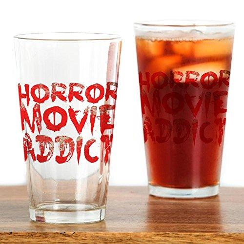 CafePress-Horror Film Addict-Pint-Glas, 16oz Trinkglas farblos
