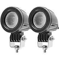 10W 3000LM Phare LED Moto Feux Additionnels Avant Cree LED Phares de Travail Projecteur d'inondation Lumières 12V (Paquet DE 2)
