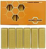 Natural Apiary - Barras de cera de abeja 100% - 6 barras de 1 oz - proyectos de bricolaje, fabricación de velas, pulido de muebles, manualidades, hidratante, lociones, cremas, bálsamos labiales, jabones, Cera de abeja cosmética, Cosmetic Beeswax