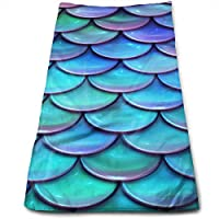 ewtretr Toallas De Mano, Sparkling Mermaid Scales.jpg Cool Towel Beach Towel Instant Cool