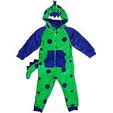 Niño Dragon Capucha Polar Todo en One pijama de bebé con Cola by Onezee tallas desde 2 a 6 Años