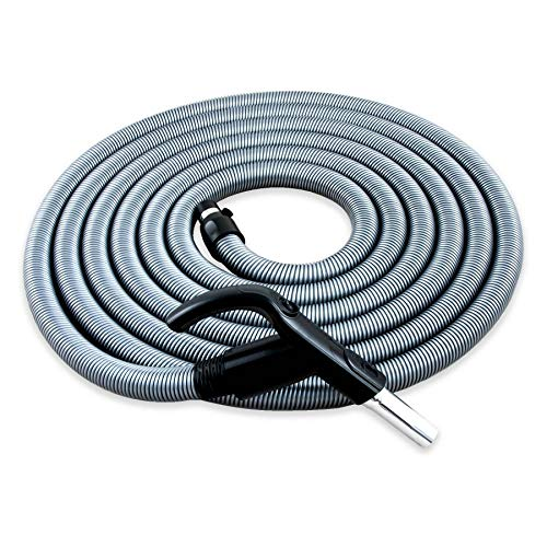 Plastiflex Komfort Schlauch Ergo für Zentralstaubsauger, passend für Fast alle Anbieter Länge 10.7m