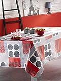 CALITEX FLAG, Nappe Toile Cirée Rectangulaire, PVC, Gris, 140x200 cm
