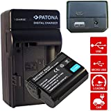 4en1 Cargador PATONA + Bateria para Premium 2000 mAh Nikon EN-EL15 con Infochip · para Nikon 1 V1 V1 D600 D800E D7000 D8000