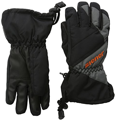 Ziener Jungen Handschuhe Agil AS R Gloves Junior Skihandschuh, Black/Graphite, 7,5