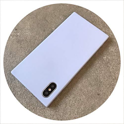 Platz Matte einfacher Telefon-Kasten für für iPhone 7 8 Plus weiche TPU Silikon-Plain-Abdeckung für 6 6s X Xs, Himmelblau, für i6 6s (Boost S5 Mobile Samsung Telefone)