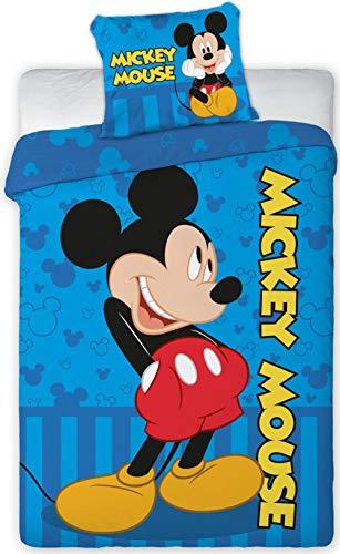 Disney 066 Micky Maus Baby Wende-Bettwäsche Set 100 x 135cm