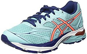 Asics Women's T6e6n6706 Running Shoes, Multicolor (Aqua Splash/flash Coral/indigo Blue), 9.5 UK