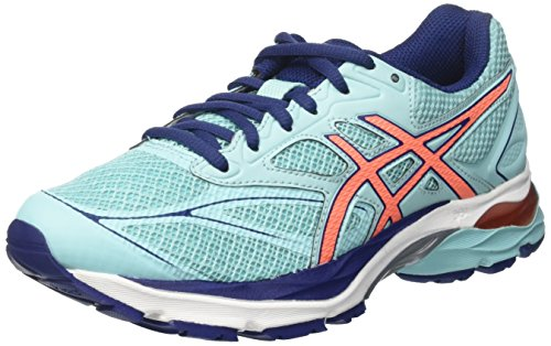 Asics Damen Gel-Pulse 8 Laufschuhe, Blau (Aqua Splash/Flash Coral/Indigo Blue), 40.5 EU