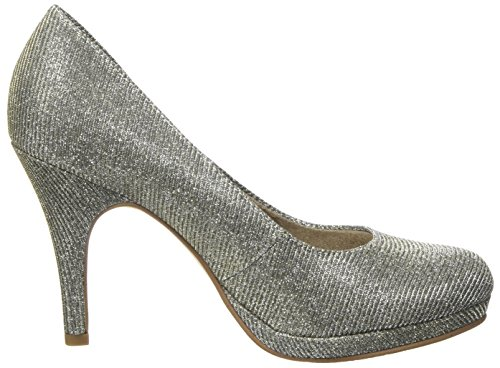 Tamaris Damen 22407 Pumps Silber (Platinum Glam)