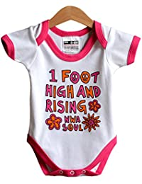1 Foot High and Rising - Rap baby bodysuit (onesie) tribute to the De La Soul 3 Feet High and Rising Album (Age 6-12 months)