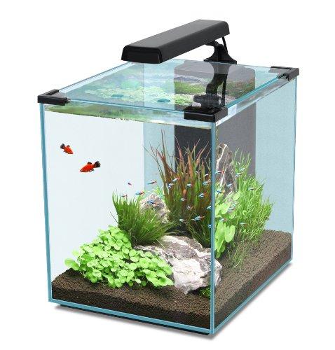 Nano Cubic 40negro Acuarios Set con iluminación LED, Filtro, Bomba & Calefactor