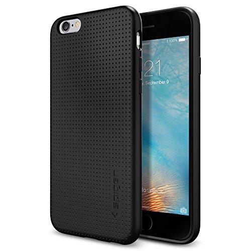 Spigen iPhone 6S Hülle, [Liquid Armor] Soft Capsule [Schwarz] Luftpolster-Technologie Handyhülle - Soft Flex Premium-TPU Schutzhülle für iPhone 6/6S Case, iPhone 6/6S Cover - Black (SGP11751) (Flex-7 Objektiv)